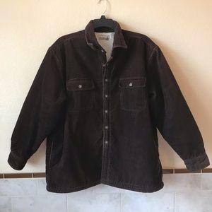 Fieldmaster Mens Dark Brown Corduroy Sherpa Jacket
